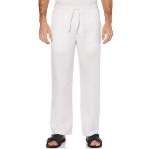 "Cubavera Big and Tall White 1XB/30"" Linen Pants"